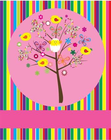 vector baby shower tree