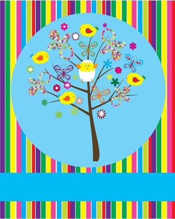árbol de ducha del bebé de vector