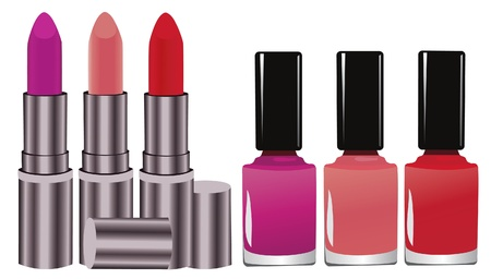lipstick and nail polish