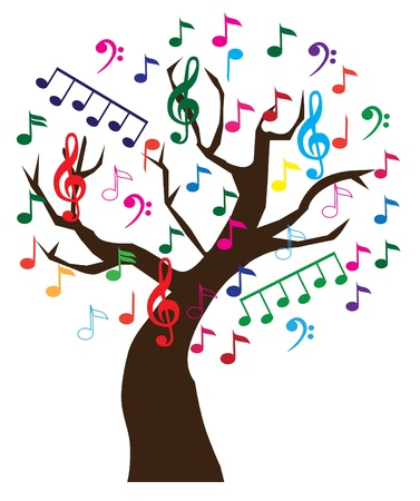 music: vector music tree