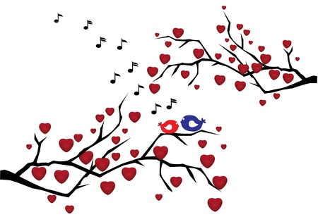 vector love branches Vector