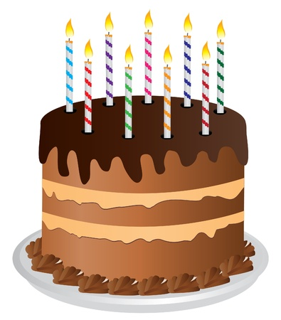 Torta con candeline Archivio Fotografico - 10770791