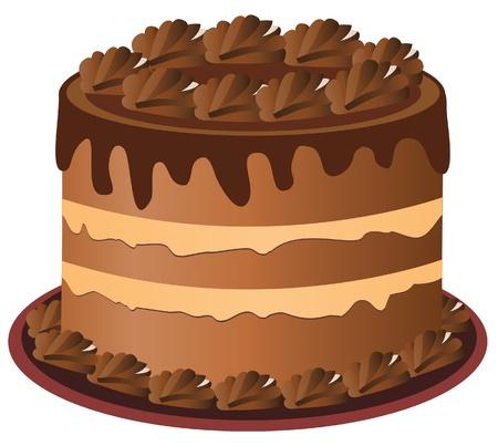 gâteau au chocolat Vecteurs