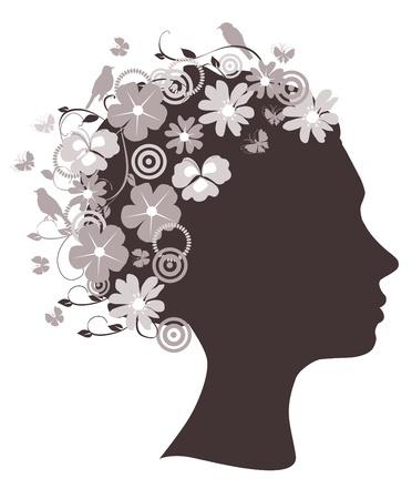 floral head Иллюстрация