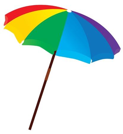 lluvia paraguas: sombrilla de playa de vector