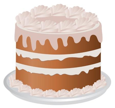 whip cream: vector cake