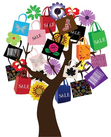 vector sale tree Illustration