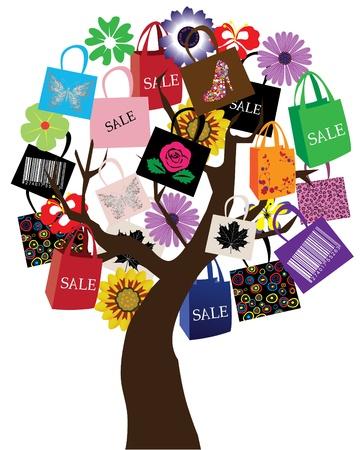 vector sale tree Illustration
