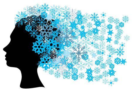 雪の頭をベクトルします。