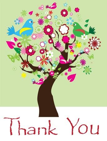 vector thank you tree Ilustracja