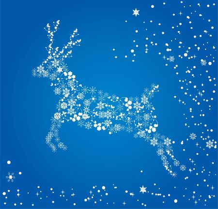 Snowflake reindeer Vector