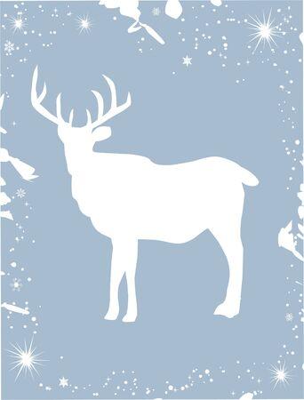 deer card Vector