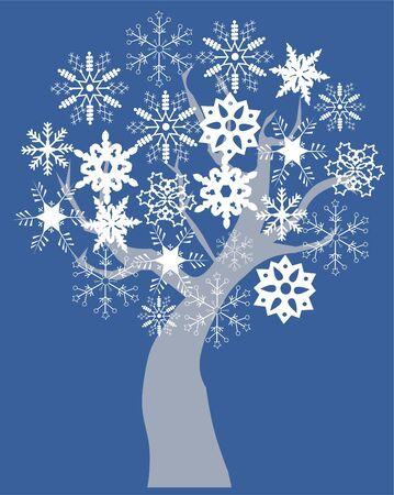 snow tree Ilustrace