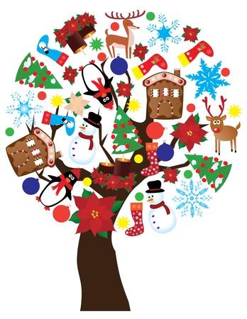 Anno nuovo albero Archivio Fotografico - 11223727