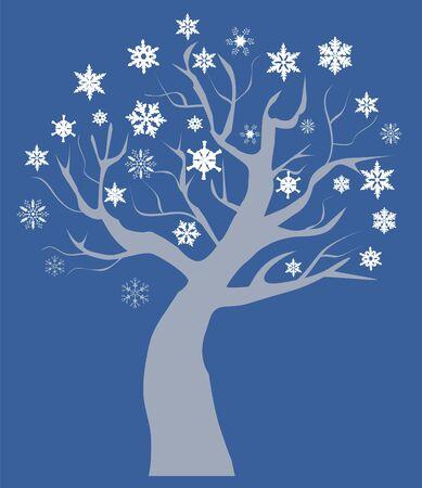 Vector snow tree Vector