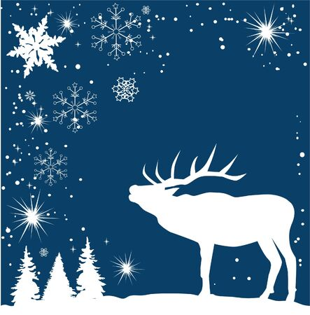 reindeer card Vector