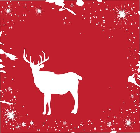 vector reindeer card Stock Vector - 11673625
