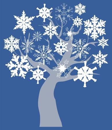 bare: Vector snow tree