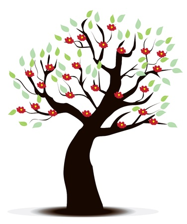 floral tree Stock Vector - 11787906