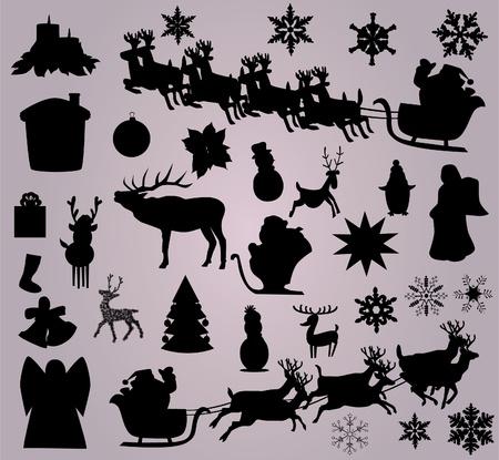 Weihnachten Elemente Standard-Bild - 11787908
