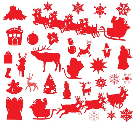 vector Christmas elements Vector
