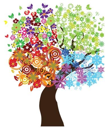 season tree Stock Vector - 12053223