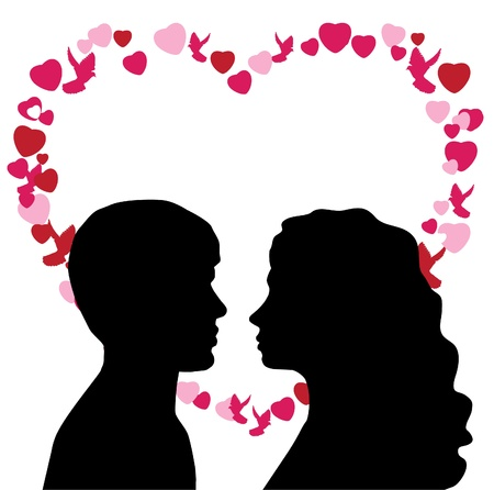 man and woman in love