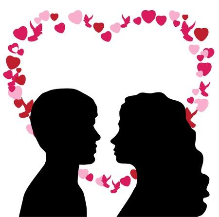 Mann und Frau in der Liebe