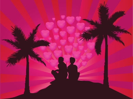 cuddling: romantic couple