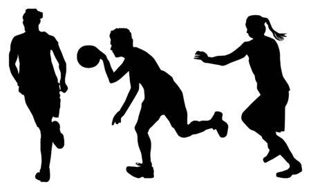 jugadores de baloncesto de vectores