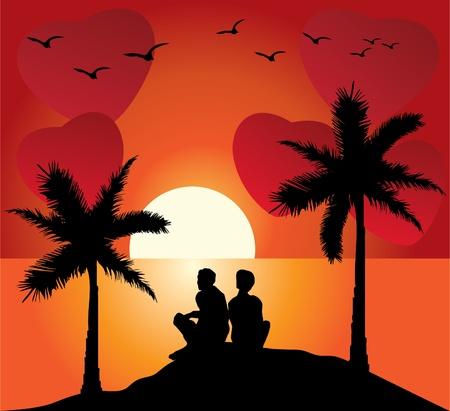 vector romantic couple