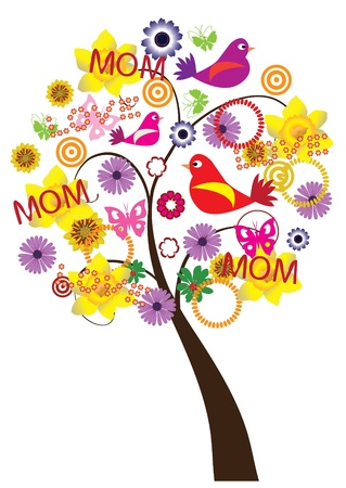 mothers day background: Festa della mamma s albero