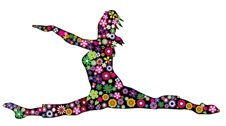 floral dancer Vector