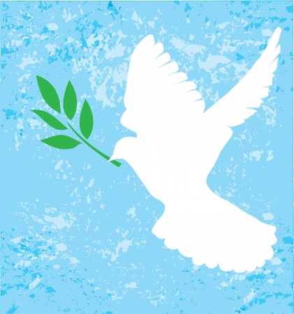 hope: dove with olive branch