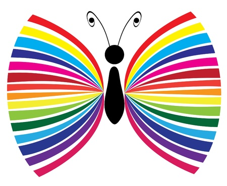 retro grunge: vector abstract butterfly Illustration