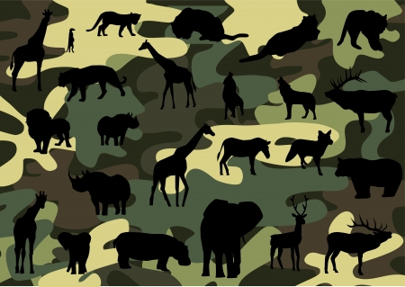 conceal: camouflage Illustration