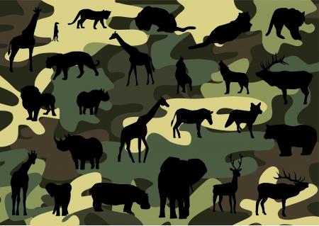camouflage: camuflar Vectores