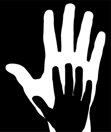 Hand of a mother and a child Stock Vector - 15577781