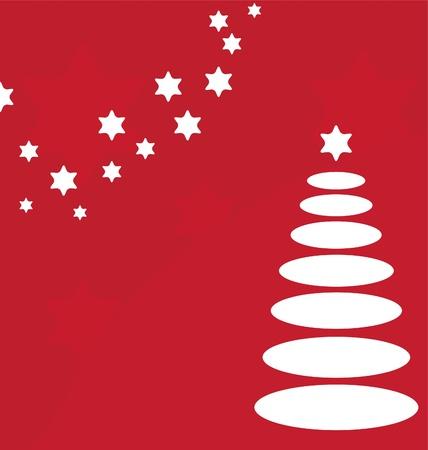 vector Christmas tree card Vector