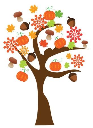 rothadó: vektor őszi fa