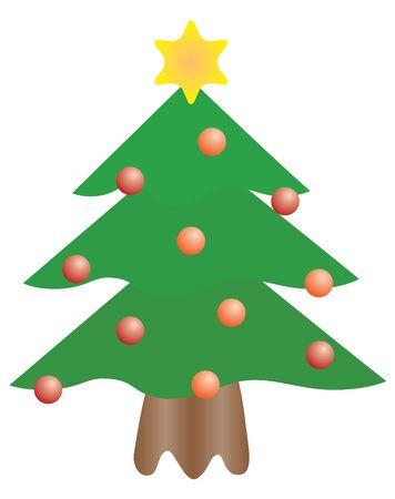 season: vector christmas tree Illustration