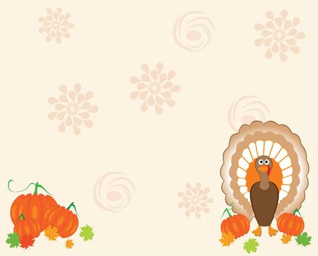 vector card for thanksgiving day Vector