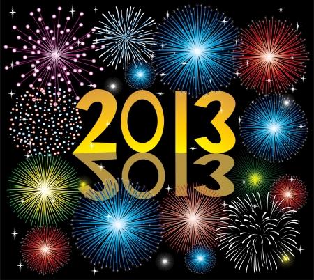 2013 fireworks Vector