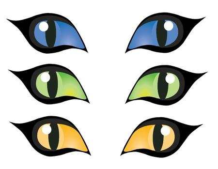 vecteur coloré chats yeux