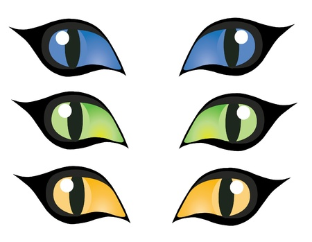 vector colorful cats eyes Vector