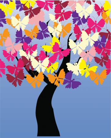 vector butterfly tree Vector