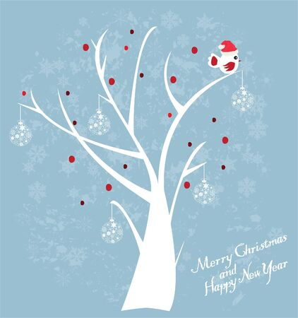 tree with fun bird Stock Vector - 16033634