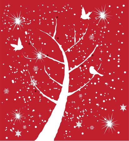 snow tree Stock Vector - 16582008