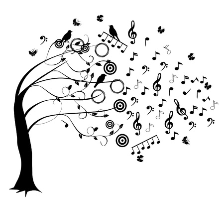 sheet music: musical tree