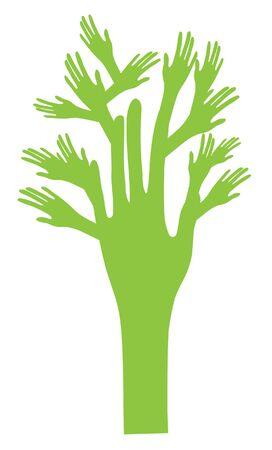 vector tree hand Stock Vector - 17243773